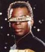 "Geordi Laforge, the ""mission specialist"" in Star Trek: Orion Rendezvous"